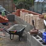 Walling. Hand Made Bricks & Block Work