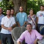 The C.A.R. Gardens team with Alan Titchmarsh